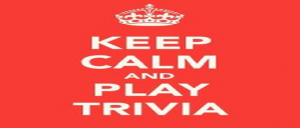Keep calm and play trivia graphic