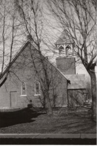 back shot of church 1930's approx.
