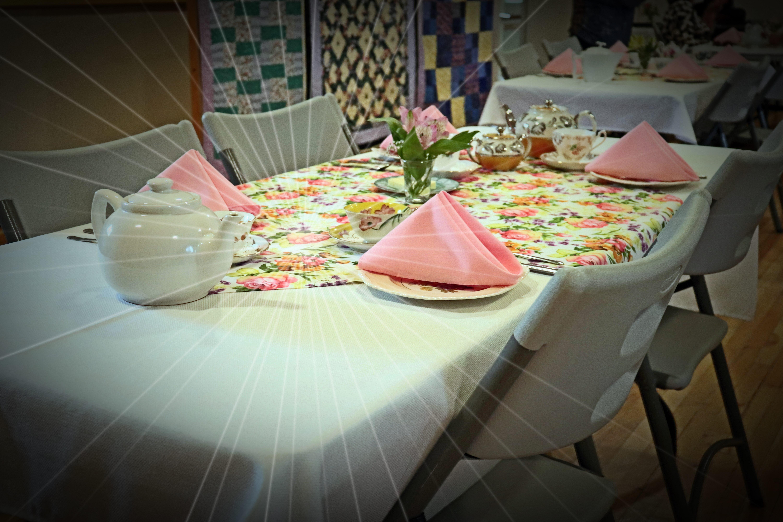 ACW Spring Tea Table Display